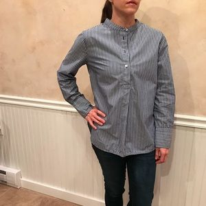 Madewell Market Popover Blue w White Stripes Md